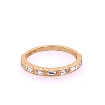 Baguette Cut Diamond Band in Yellow Gold