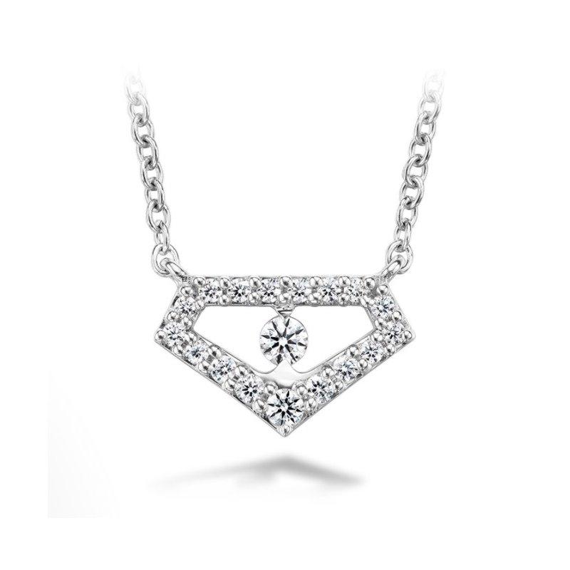 Hearts On Fire Geometric Diamond Necklace in 18k Gold