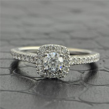 .28 Carat Round Brilliant Diamond Engagement Ring by Vera Wang