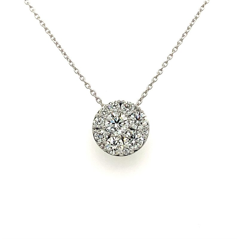 Hearts On Fire Diamond Circle Pendant Necklace in White Gold