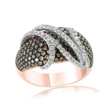 Espresso Diamond Fashion Ring in Rose Gold