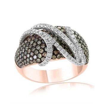 Espresso Diamond Fashion Ring in Rose Gold