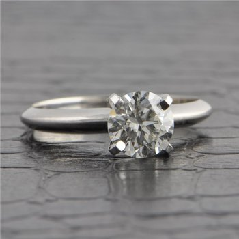 .96 Carat Round Brilliant Cut Diamond Engagement Ring in White Gold