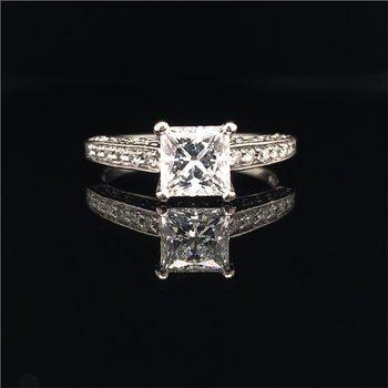 Scott Kay 1.15 Carat Princess Cut Diamond Engagement Ring