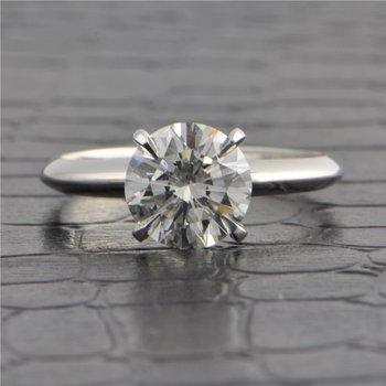GIA 1.61 Carat I-VVS2 Round Brilliant Cut Diamond Engagement Ring in White Gold