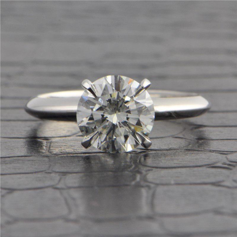 Perry's Estate Collection GIA 1.61 Carat I-VVS2 Round Brilliant Cut Diamond Engagement Ring in White Gold