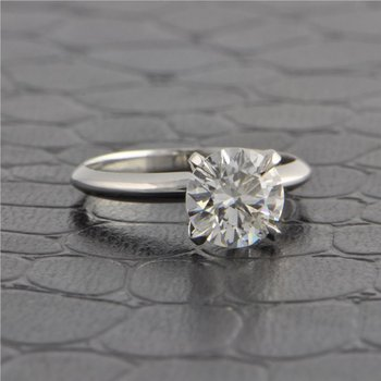 GIA 1.53 ct. E-VS1 Round Brilliant Cut Diamond Engagement Ring in White Gold