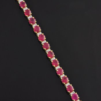 Ruby and Diamond Bracelet in Yellow Gold