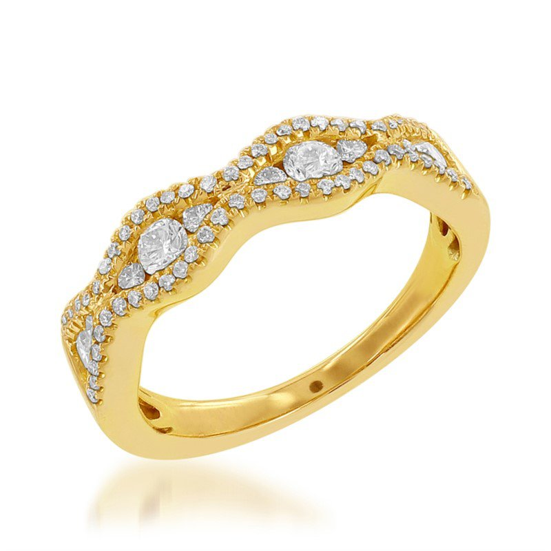 Jewels By Jacob Diamond Wedding Band in Yellow Gold