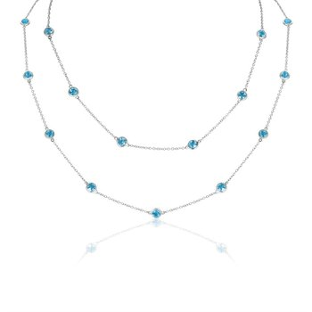 Blue Topaz Station Necklace