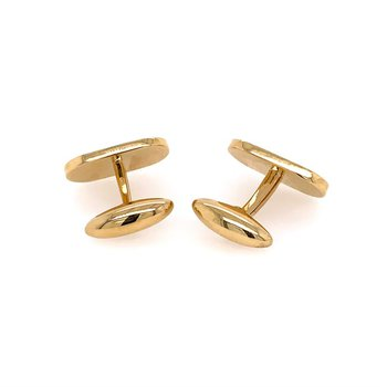 Mother of Pearl and Lapis Cuff Links in 18k Gold