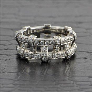 Tiffany & Co. Platinum Openwork Diamond Band Size 5