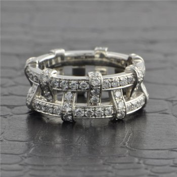 Tiffany & Co. Platinum Openwork Diamond Band Size 5