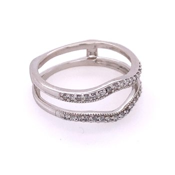 Diamond Ring Guard in White Gold
