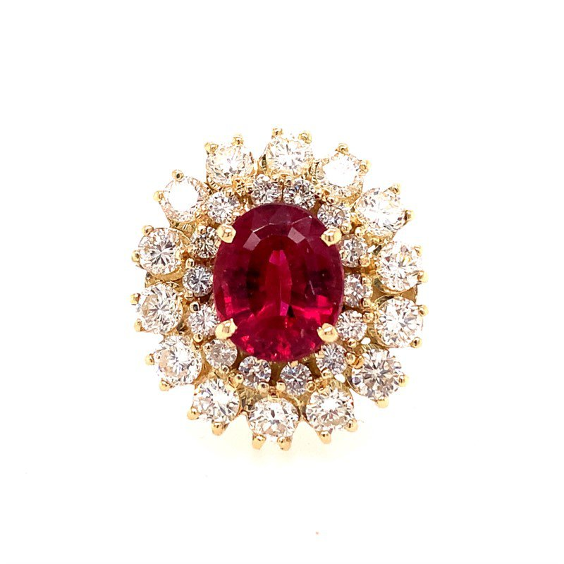 Perry's Estate Collection Pink Tourmaline and Diamond Cocktail Ring in Yellow Gold