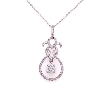 Openwork Diamond Pendant in White Gold