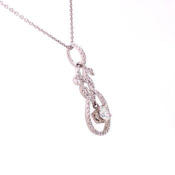 Openwork Diamond Pendant in White Gold