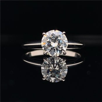 GIA 1.19 Carat VVS2-F Round Brilliant Cut Diamond Ring