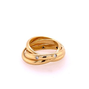 Rolling Bands in 18k Gold Size 5.25