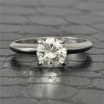 GIA 0.95 Carat I-VS2 Round Brilliant Cut Diamond Engagement Ring in White Gold