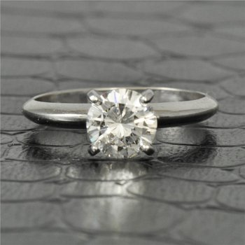 GIA 0.95 Carat I-VS2 Round Brilliant Cut Diamond Engagement Ring in White Gold
