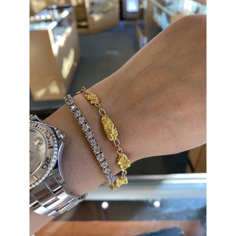 Custom Designs Natural Gold Nugget Bracelet