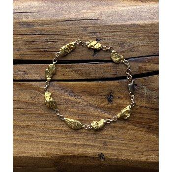 Natural Gold Nugget Bracelet