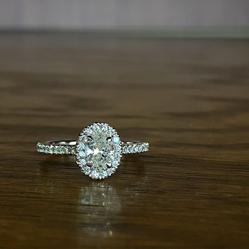 Custom Designs Oval Halo Engagement Ring
