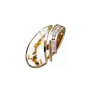 Gold Quartz Pendant