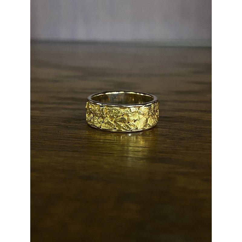 Custom Designs Natural Gold Nugget Band