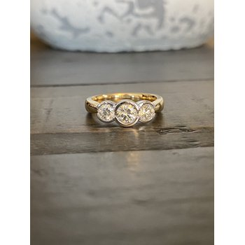 3-Stone Bezel Set Ring