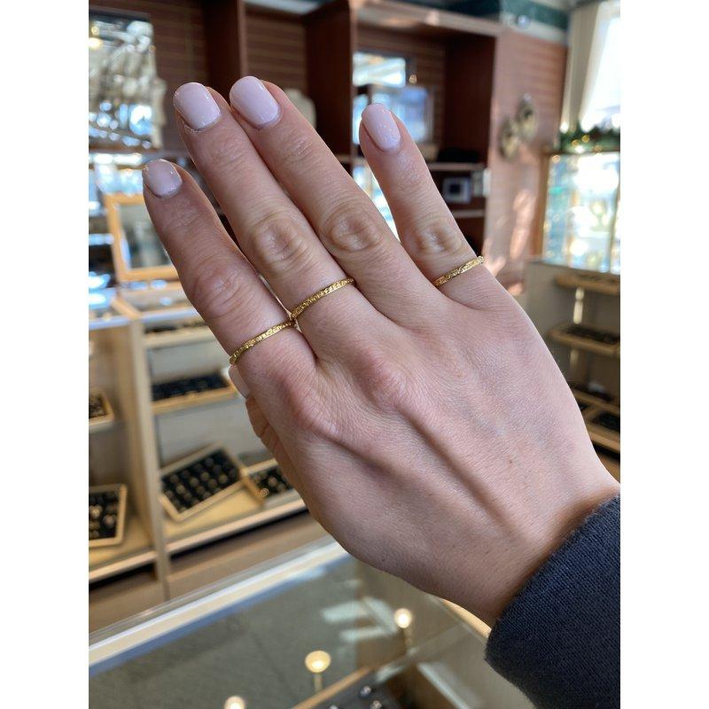 Custom Designs Tiny Gold Nugget Band