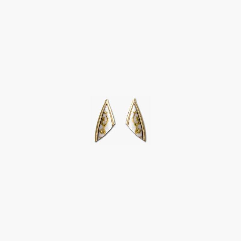 Alaskan Jewelry Gold Quartz Earrings