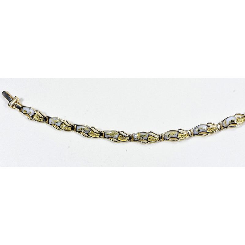 Alaskan Jewelry Gold Quartz Bracelet