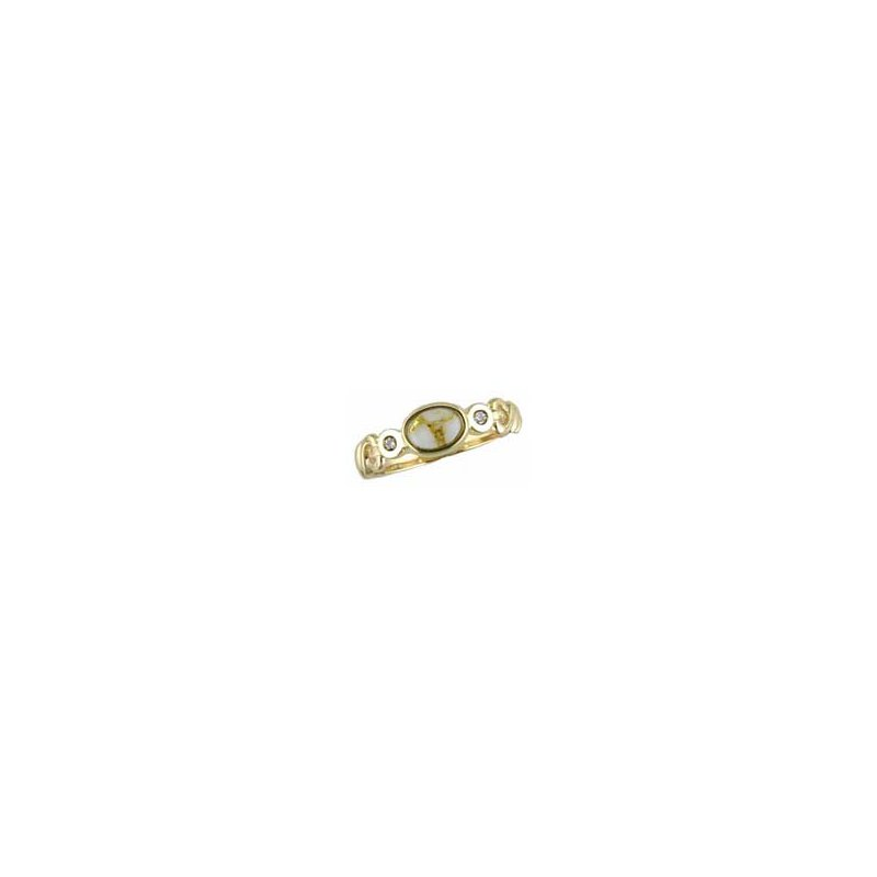 Alaskan Jewelry Gold Quartz Ring