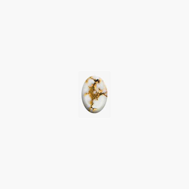 Alaskan Jewelry Gold Quartz Cabachon