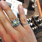 Custom Designs Natural Gold Quartz Ring with Diamonds