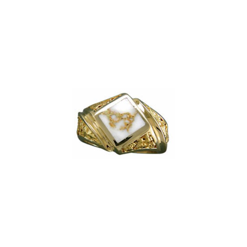 Alaskan Jewelry Mens Quartz Ring
