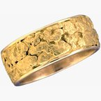 Alaskan Jewelry Gold Nugget Band