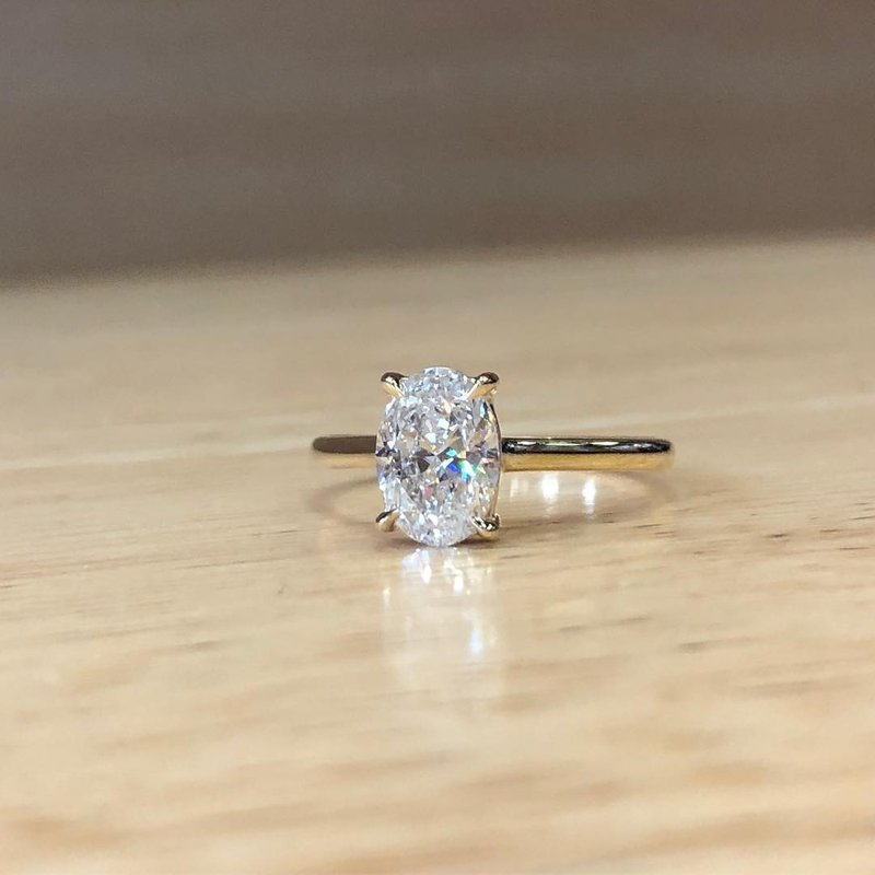 Custom Designs Oval Solitaire Engagement Ring