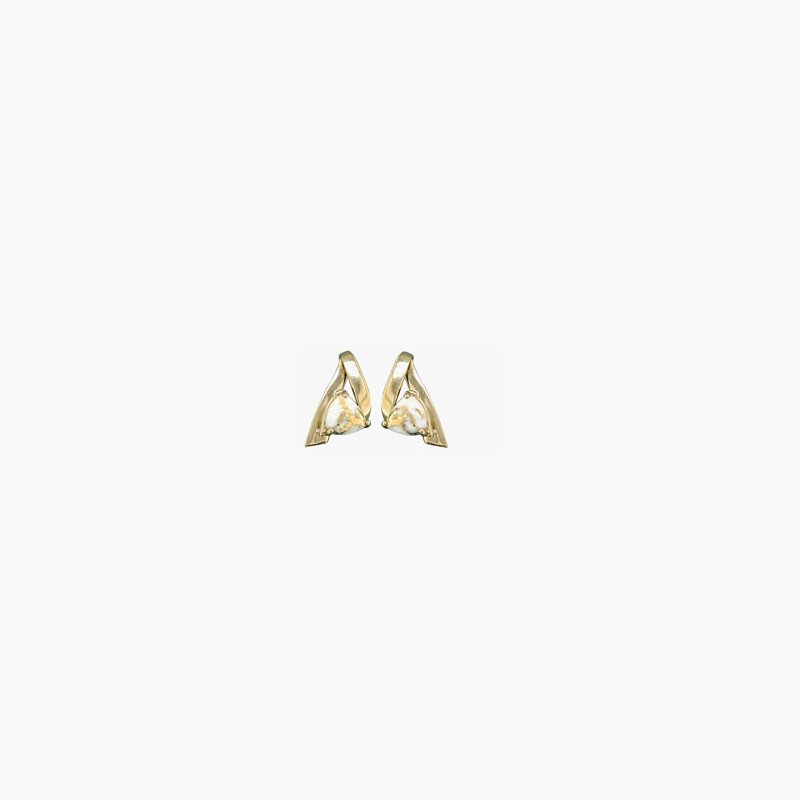 Alaskan Jewelry Gold Quartz Earrings