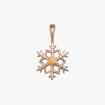 Gold Nugget Snowflake