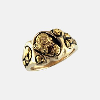 Man's Gold Nugget Ring