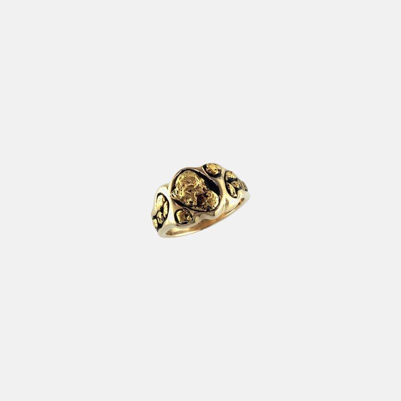Alaskan Jewelry Man's Gold Nugget Ring
