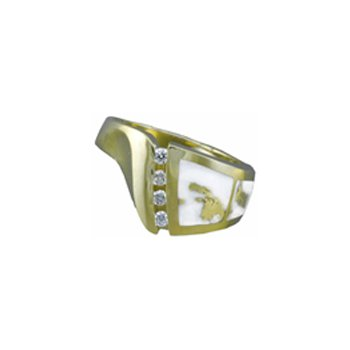 Gold Quartz Ring
