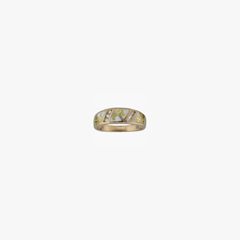 Alaskan Jewelry Ladies' Gold Quartz and Nugget Ring