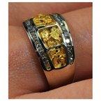 Alaskan Jewelry Lady's nugget and diamond band