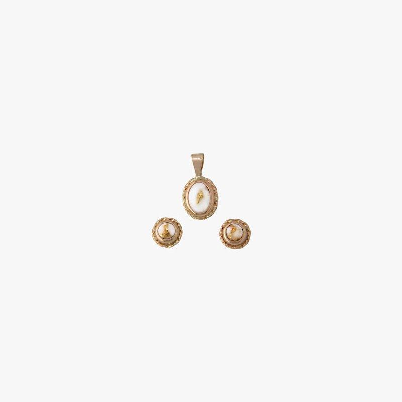 Alaskan Jewelry Gold Quartz Set