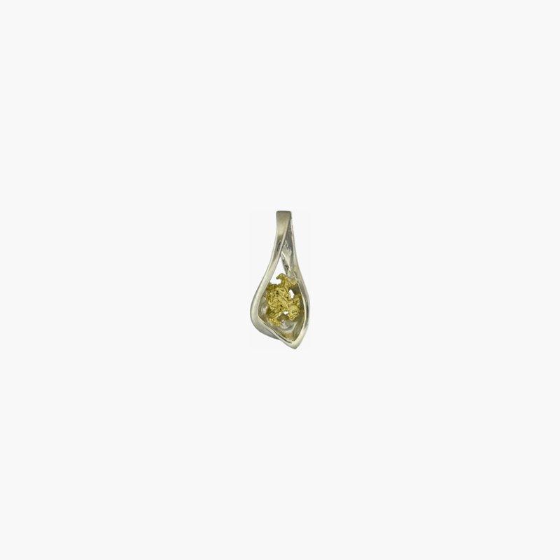 Alaskan Jewelry Gold Nugget Pendant