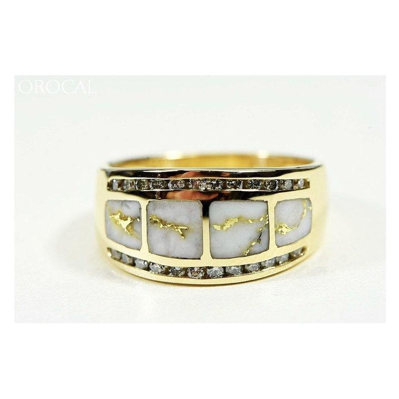 Alaskan Jewelry Natural Gold Quartz Ring with Diamonds